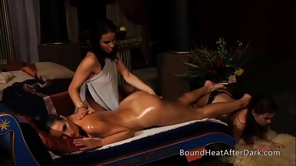 Massage lesbian, Happy end, Oily, Happy