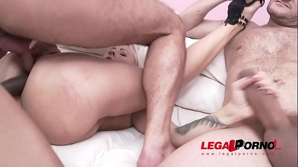 Monster cock, Double pussy, Double creampie