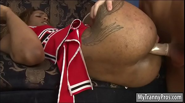 Ebony anal, Cheerleader