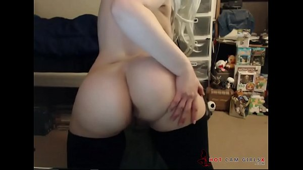 Blondes, Busty blonde, Ass spreading