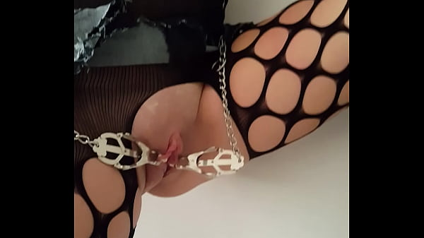 Slave, Whip, High heels, Tied tits